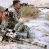 Image caption A Canadian sniper team working in Afghanistan
