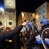 Far-right demonstrators clash with police at banned protest in Macerata