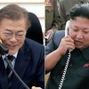 Moon, Kim connected with direct hotline