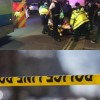 Three hurt as car swerves into crowd outside Islamic Centre