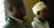 Former Garissa Deputy County Commissioner Dominic Kyenza  and stores clerk Mr Abdullahi Ahmed in a Garissa court