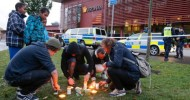 A masked man armed with a sword has killed a pupil and a teacher at a school in Sweden.