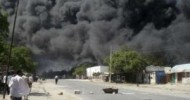 At least 14 people were killed when a car packed with explosives blew up near a busy market