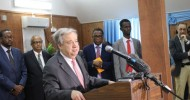 United Nations Secretary-General Antonio Guterres has arrived in Somalia on an emergency visit