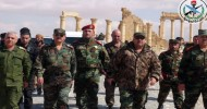 Defense Minister visits Palmyra, conducts field tour in Homs eastern countryside