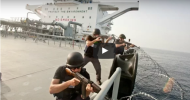 WATCH AS SHIP SECURITY GUARDS HAVE AN INTENSE GUNFIGHT WITH SOMALI PIRATES