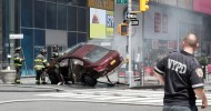 Pedestrians injured by car in New York's Times Square