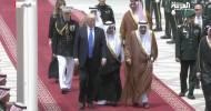 President Donald Trump arrives in Saudi Arabia on historic visit