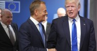 Trump meets with EU leaders, will attend NATO summit