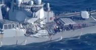 USS Fitzgerald crash: Sailors found dead after Japan collision