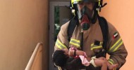 Newborn rescued from Discovery Gardens building fire