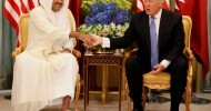 Trump intervenes in Gulf rift, pointing at Qatar over militant funding