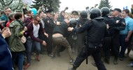 Dozens detained in Moscow as protesters show up at unauthorized location (PHOTOS)