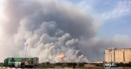 Multiple blasts rock Azeri ammo depot engulfed by fire (VIDEO)