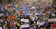 Thousands take part in Barcelona march against terror