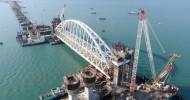 Russia installs Crimea bridge railway arch in unique operation (VIDEO)