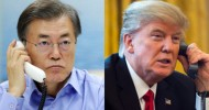 Moon, Trump agree to build up missile deterrence, bring N. Korea back to dialogue