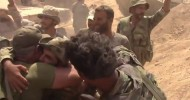 Syrian soldiers embrace after breaking 3-year ISIS siege of Deir ez-Zor (EXCLUSIVE VIDEO)