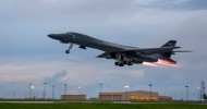 2 US B-1B strategic bombers conduct firing drills with South Korea & Japan