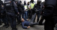 Clashes at polling stations as Catalonia holds independence referendum