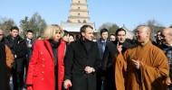 French President Emmanuel Macron urged Europe Monday to take part in China's Silk Road revival plan