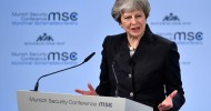 May uses Munich speech to plead for 'urgent' post-Brexit EU security deal