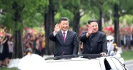North Korea lauds China ties as Xi wraps up trip Xi travels through Pyongyang in open-top car with Kim Jong Un as two leaders celebrate two countries' close friendship.