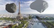 Asteroids v Eiffel Tower? ESA gets cash boost, shares breathtaking mockup of space rocks at famous landmark