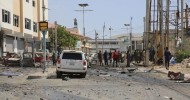 Roadside bomb kills 3 soldiers in Somalia No group has yet claimed responsibility for bomb attack, also wounding more than 4 soldiers