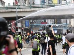 Water cannon deployed to disperse protesters in Causeway Bay