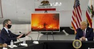 US wildfires: Donald Trump dismisses science and predicts cooler temperatures