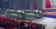 North Korea shows off huge ICBM at parade defying COVID-19 measures