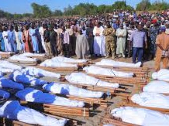 At least 110 civilians killed in 'gruesome' Nigeria massacre Farmers harvesting crops in Borno state attacked by armed men on motorcycles, in the 'most violent direct' assault against civilians this year, UN says.