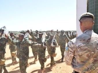 British Army trains 500th Somali soldier in infantry skills Troops from Princess of Wales's Royal Regiment shared key military skills with Somali National Army soldiers to help them conduct effective security operations.