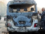 14 martyrs, 2 injured in terrorist attack on military bus, Damascus-video